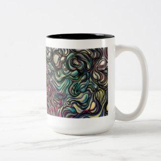 'Air Blob' abstract art Two-Tone Mug