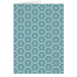 Air Blue Hexagons Greeting Card
