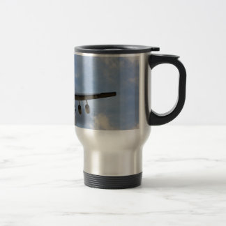 Air-brakes extended coming into land travel mug