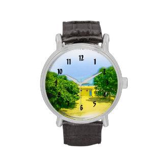 Air Brushed Lake Michigan Shores Wrist Watch
