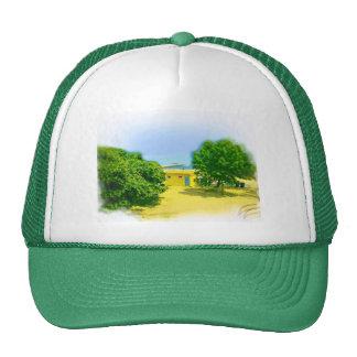Air Brushed Lake Michigan Shores Mesh Hats