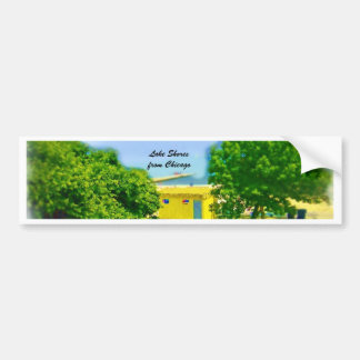 Air Brushed Painted Chicago Lake Shores Car Bumper Sticker