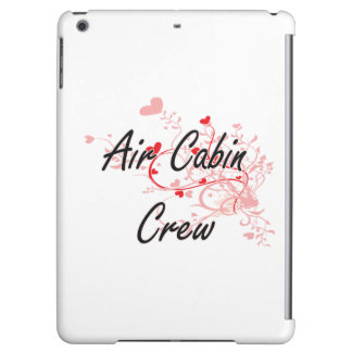 Air Cabin Crew Artistic Job Design with Hearts