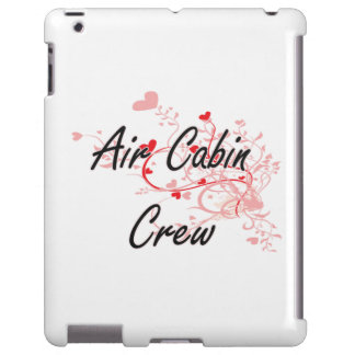 Air Cabin Crew Artistic Job Design with Hearts iPad Case