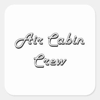 Air Cabin Crew Classic Job Design Square Sticker