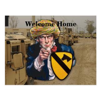 Air cav 1st cavalry division iraq patch postcard