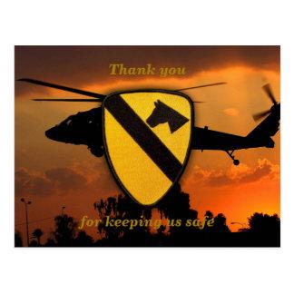 Air cav cavalry fort hood veterans vets patch postcards