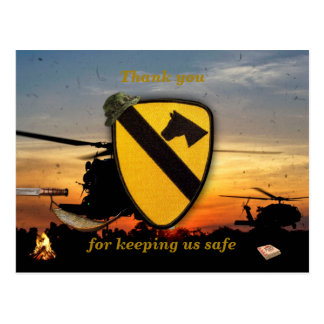 Air cav cavalry fort hood veterans vets patch post cards