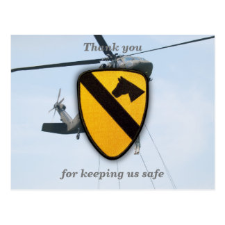 Air cav cavalry fort hood veterans vets patch post card