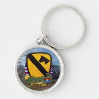 air cav vietnam war patch vets Keychain