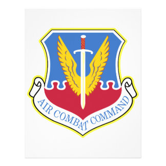 Air Combat Command Personalized Flyer
