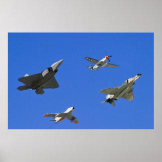 Air Combat Command Heritage Flight Poster