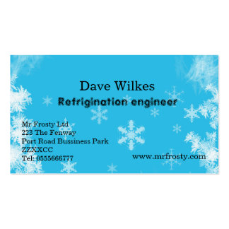 Air con and refrigination engineer business card