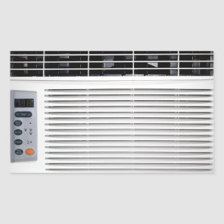 Air Conditioner Rectangular Sticker
