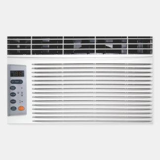 Air Conditioner Rectangular Stickers