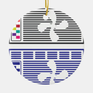 Air Conditioner Vector Christmas Ornament