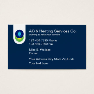Air Conditioning And Heating Business Card