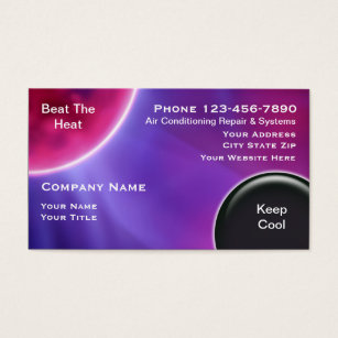 Heating business cards business card printing zazzle uk air conditioning business cards colourmoves