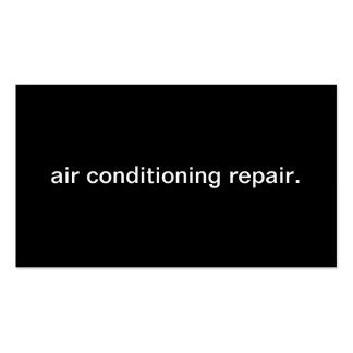 Air Conditioning Repair Pack Of Standard Business Cards