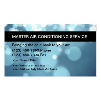 Air Conditioning Repair Business Cards