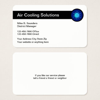 Air Conditioning Service Businesscards