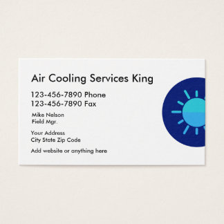 Air Conditioning Services Business Card