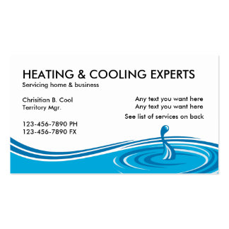 Air Conditioning Services Pack Of Standard Business Cards
