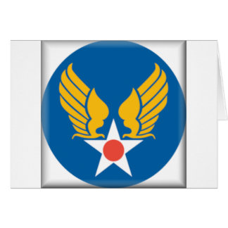 Air Corps Military Emblem Card