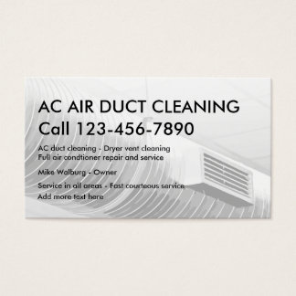 Air Duct Cleaning Bsiness cards