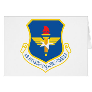 Air Education & Training Command Insignia Greeting Card