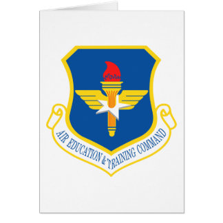 Air Education & Training Command Insignia Greeting Card