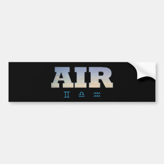Air Element with Zodiac Signs Bumper Stickers