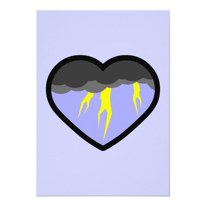 Air Elemental Heart 13 Cm X 18 Cm Invitation Card