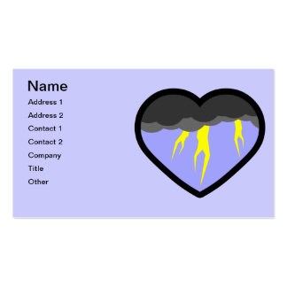 Air Elemental Heart Double-Sided Standard Business Cards (Pack Of 100)