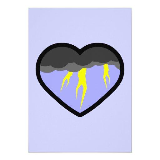 Air Elemental Heart Invite