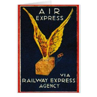 Air Express Via Railway Express Agency Cards