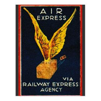 Air Express Via Railway Express Agency Postcard