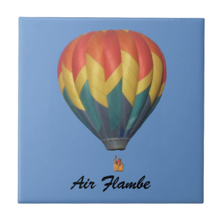 Air Flambe Hot Air Balloon Tile with Name