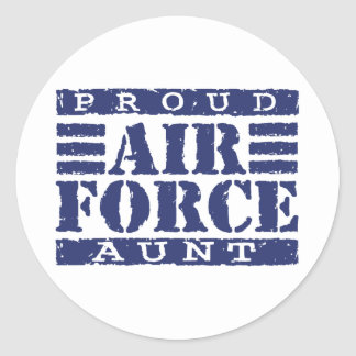 Air Force Aunt Classic Round Sticker