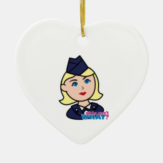 Air Force Blonde Head Christmas Ornament