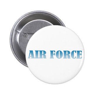 Air Force - Blue Text 6 Cm Round Badge