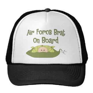 Air Force Brat On Board (Caucasian) Mesh Hats