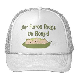 Air Force Brats On Board Triplets (Caucasian) Cap