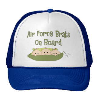Air Force Brats On Board Triplets Caucasian Mesh Hat
