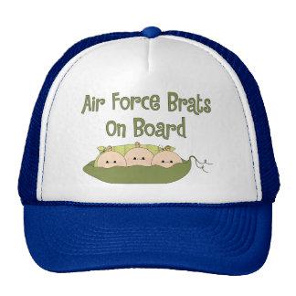 Air Force Brats On Board Triplets (Caucasian) Mesh Hat