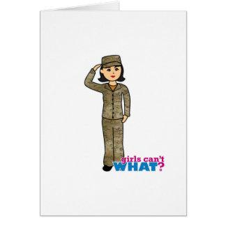 Air Force Camo Black Hair Greeting Card