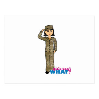 Air Force Camo Black Hair Post Cards