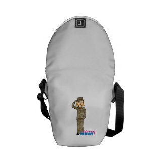 Air Force Camo Blonde Courier Bags