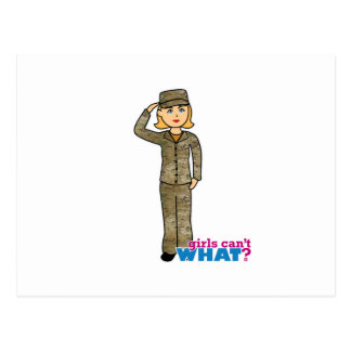 Air Force Camo Blonde Post Card