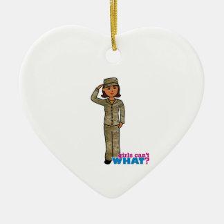 Air Force Camo Dark Ceramic Heart Decoration
